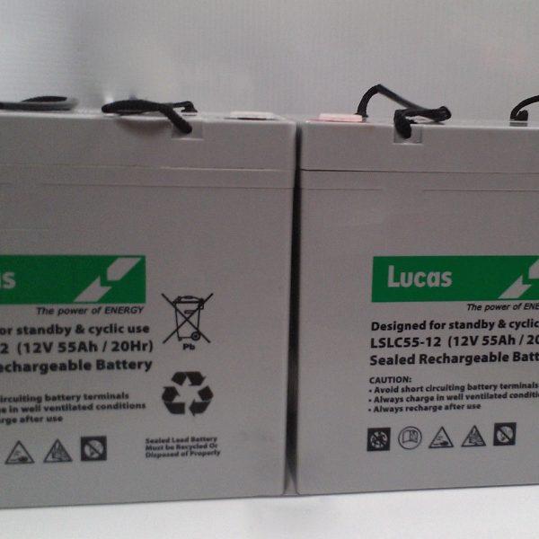 GOLF BATTERIES-powakaddy golf trolley batteries 42 amp 12 volt Lucas AGM
